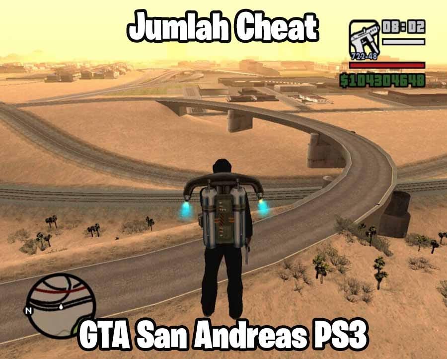 Jumlah Cheat GTA San Andreas di PS3